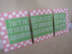 Bible Verse Canvas for little girls room. Made by @Beth J Nativ Ownby. I have a different one in my living room. Love it!