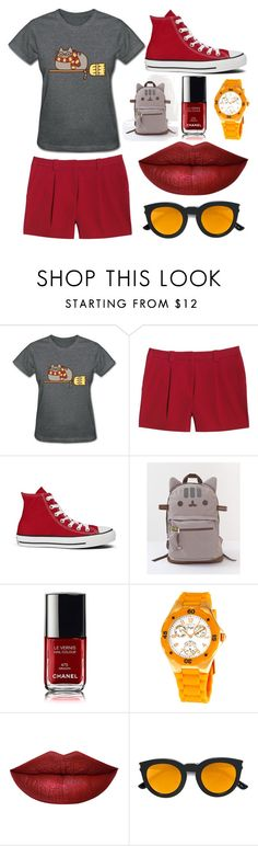 """""""Untitled #24"""" by jankokulic ❤ liked on Polyvore featuring Pusheen, Canvas by Lands' End, Converse, Invicta and Yves Saint Laurent"""