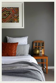 grey and rust orange look so great together!