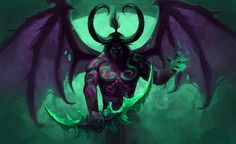 Illidan Stormrage, Anastasia Agavriloaie on ArtStation at https://www.artstation.com/artwork/lZEYe