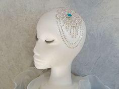 Magnifique peigne à cheveux Strass et Perle imitation Topaze : Accessoires coiffure par ysabell
