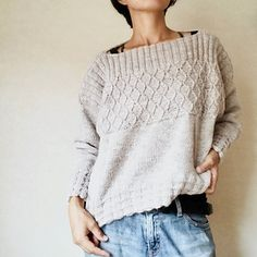 Ravelry: Oldies pattern by rie vive. Sweater knitting pattern for women Vogue Knitting, Knitting Blogs, Sweater Knitting Patterns, Knitting Designs, Knit Patterns, Hand Knitting, Knitting Sweaters, Knitting Tutorials, Loom Knitting