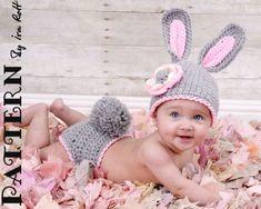 etsy.com knitted child's hat patternsetsy.com knitted costumes | Hacer un disfraz de conejito para bebé? en ETSY consigues el patrón.