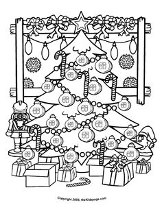 Christmas Tree Free Coloring Pages for Kids - Printable Colouring Sheets