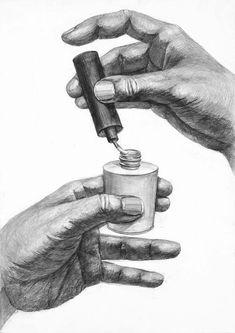 多摩美術大学生産デザイン学科プロダクトデザイン専攻 Cool Art Drawings, Realistic Drawings, Pencil Drawings, Anatomy Art, Anatomy Drawing, Anatomy Sketches, Drawing Lessons, Painting Lessons, Feet Drawing