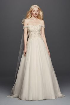 Mermaid wedding dresses mermaid wedding and tulle on for Wedding dress with swag sleeves