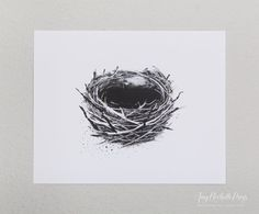 Nest Monotype Art Print by AmyRochellePress on Easy. Custom Invitations, Letterpress, Event Design, Hand Lettering, Nest, Amy, Clever, Art Prints, Unique Jewelry