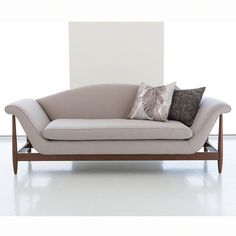 Global Views Wagner Sofa-Flannel
