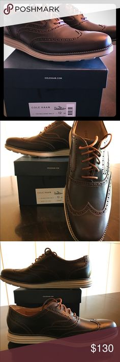 Cole Haan Original Grand Wingtip Brand new in box, size 12, brown Cole Haan Shoes Oxfords & Derbys