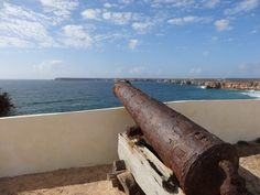 An old and rusty cannon points out to sea. The vicinity of Cape Saint-Vincent was the scene of many naval battles in the past. Saint Vincent, Out To Sea, Algarve, Lisbon, Cannon, Cape, Portugal, The Past, Mantle