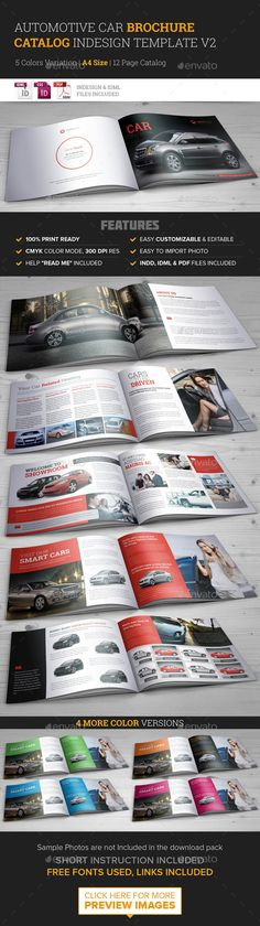 Automotive Car Brochure Catalog InDesign Template  - Catalogs #Brochures Download here:  https://graphicriver.net/item/automotive-car-brochure-catalog-indesign-template-/9591704?ref=suz_562geid