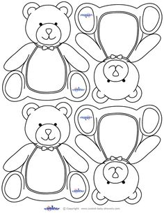 Theddy Bear Baby Shower, teddy bear printables. These would make cute name tags for guests!