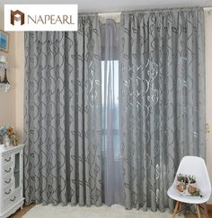 Aliexpress.com : Buy Modern decorative curtains jacquard gray curtains window curtain for bedroom window blind from Reliable curtains blackout suppliers on Simante Home Decoration  | Alibaba Group
