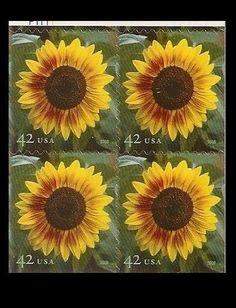 US 4347 Sunflower 42c block MNH 2008  | eBay