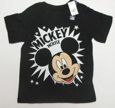 NWT Disney Mickey Mouse Black Tee T-Shirt Top Toddler Shirt Boys Girls Unisex 4T #Disney #Everyday Only $5.99