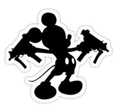 Uzi Rodent sticker by spoku Mickey Guns