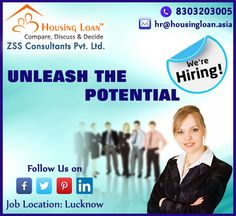 Your dream job is waiting for you . APPLY FOR Sales Manager and Regional Sales Manager ! Job Location : Lucknow Send your CV at : hr@housingloan.asia And contact us at : 8303203005