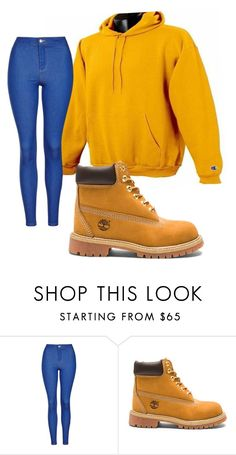 """""""Untitled #292"""" by missqueenniyah ❤ liked on Polyvore featuring Topshop and Timberland"""