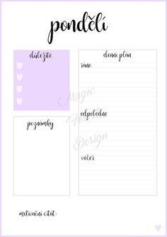 Sada - modrá #daily #planner #diary #diář #plánovací #plánovač Chcete si hezky uspořádat svůj čas? Pak si objednejte tyto denní plánovače. S nimi zaručeně na nic nezapomenete. Tento denní plán je velikosti A5 a hodí se například do diáře. Diy Paper, Organization Hacks, School Supplies, Bujo, Back To School, Diy And Crafts, Homeschool, Bullet Journal, Album