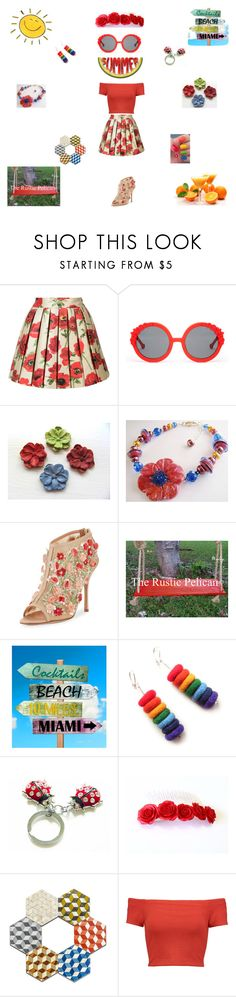 """Fun Florals for summer"" by einder ❤ liked on Polyvore featuring Alice + Olivia, Preen, Manolo Blahnik, Picard and hexagon"