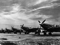 British Spitfire Planes During the Battle of Britain, 1940