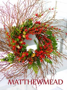 Love this beautiful Christmas Wreath! Holiday...with Matthew Mead