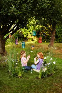 A circle of lush, ornamental grasses and fragrant flowers create a magical place for kids to play. Who knows, you might even spot a fairy!