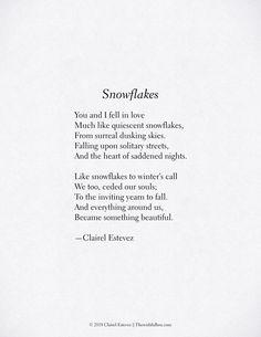 Snowflakes; Winter Poem