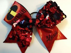 """The """"Incredibles"""" Cheer Bow by MommaTCheerBows on Etsy https://www.etsy.com/listing/237361309/the-incredibles-cheer-bow"""