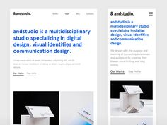 &andstudio responsive designed by Pijus Aleksandravičius. Connect with them on Dribbble; Best Website Design, Website Design Company, Web Design Studio, Web Design Agency, Web Layout, Layout Design, Ux Design, Website Layout, Website Ideas