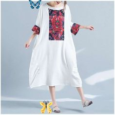 US $19.18 15% OFF|Hot Sale Fashion 2019 Summer Women Floral Printed Dress Casual Half Sleeve Big Size Dress Loose Ladies Batwing Sleeve Dress|Dresses|   - AliExpress Hot Sale Fashion 2019 Summer Women Floral Printed Dress Casual Half Sleeve Big Size Dress Loose Ladies Batwing Sleeve Dress<br> Baggy Dresses, Casual Dresses, Dresses With Sleeves, Muslim Long Dress, Hijab Evening Dress, Nude Outfits, Big Size Dress, Long Summer Dresses, Long Dresses