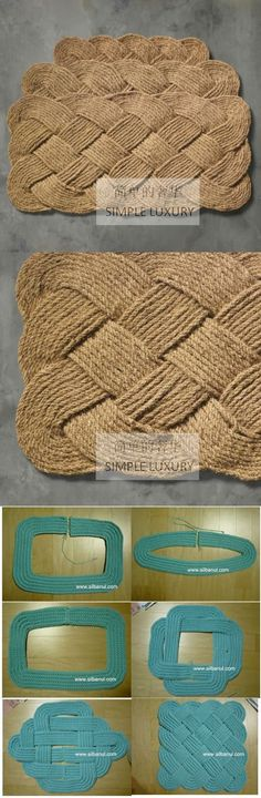 Creative Ideas, Creative Projects Magic Hands, Small Hands … - Diy and Crafts Diy Projects To Try, Crochet Projects, Craft Projects, Sewing Projects, Rope Crafts, Diy And Crafts, Arts And Crafts, Fall Crafts, Tapetes Diy