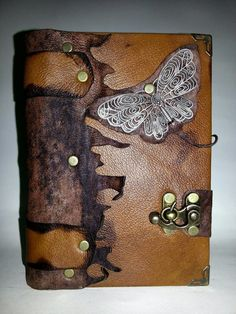 Handmade Steampunk Leather Journal Notebook Sketchbook