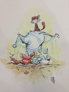 Spider Kitty vs Krypto by Skottie Young.