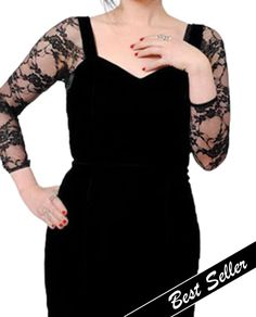 718edf8198349 Sleevey Wonders S30102 Lace 3 4 Sleeve. Stretch Lace FabricSewing  AlterationsBlack ...