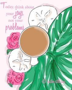 Wall Art for Women - Think About Your Joys- Wall Art Print -  Digital Art Print…