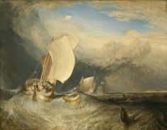 Favorite Painting. In the world.   JMW Turner, Fishing Boats with Hucksters Bargaining for Fish, 1837/38