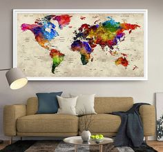 Fineartcenter shop pinterest travel maps and walls gift push pin world map travel push pin map gifts for him gumiabroncs Choice Image