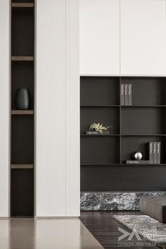 41 veces he visto estas agraciadas muebles minimalistas. Home Interior, Modern Interior, Interior Architecture, Interior And Exterior, Shelf Design, Cabinet Design, Tv Wall Design, Interiores Design, Future House
