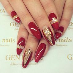 New year eve and christmas nails