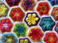 African Flowers crochet - I have found the inspiration for my next afghan!