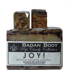 JOY! Chocolate Coconut Almond Handmade Shea Butter Soap by badanbody on Opensky
