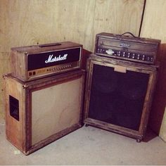 Perennial Cabs have done a nice job with this Marshall and Mesa Boogie half-stacks.
