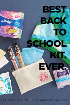 Back to School Kit $58.95  Bra + Undies + Period Starter Kit!   Get it for your gal @dearkates @yellowberryco