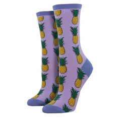 Women Men Lavender Sprigs And Blooms Pattern Cushion Ankle Socks