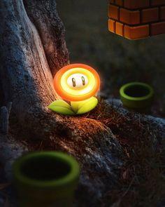 Visual Art inspired by Mario Games Super Mario Kunst, Super Mario Art, Mundo Super Mario, Fire Flower, Pop Culture Art, Mario And Luigi, Cool Art Drawings, Gaming Wallpapers, Cartoon Wallpaper