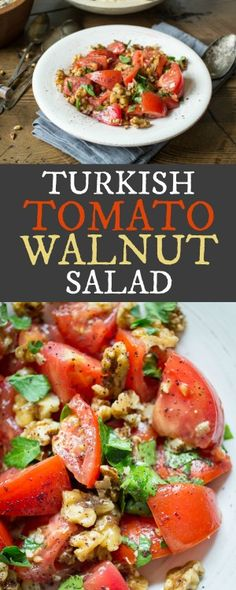 Ten minutes and a few simple ingredients are all you need to make this vibrant Tomato and Walnut Salad - perfect for using up those summertime tomatoes!