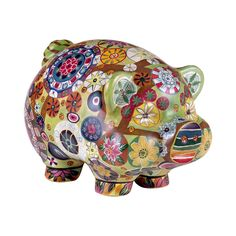 You're going to love the folk-art style of this adorable Vendella Piggy Bank. This familiar silhouette of a pudgy pig, complete with a slot for coins, is taken to the next level with a vivid design cov...  Find the Vendella Piggy Bank, as seen in the Gifts for Her Collection at http://dotandbo.com/collections/holiday-gift-guide-gifts-for-her?utm_source=pinterest&utm_medium=organic&db_sku=112797