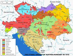 Ethnicities in Austria-Hungary in just before the First World War dissolved the empire. The Austro-Hungarian military in World War I had, for every 100 soldiers, 25 German speakers, 19 Magyars,. European History, World History, Family History, Equador, United States Map, Austro Hungarian, Old Maps, Historical Maps, Eastern Europe