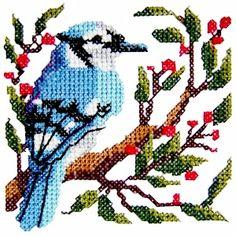 bird5 - Cross Stitch Bird Machine Embroidery Design